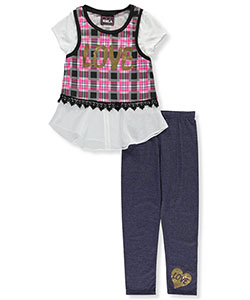 "RMLA Big Girls' ""Plaid Layers"" 2-Piece Outfit (Sizes 7 – 16) - CookiesKids.com"