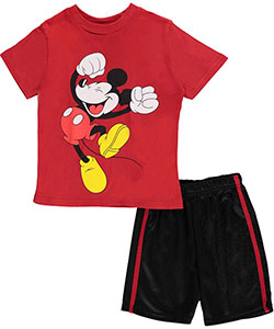 "Mickey Mouse Little Boys' Toddler ""Happy Dance"" 2-Piece Outfit (Sizes 2T – 4T) - CookiesKids.com"
