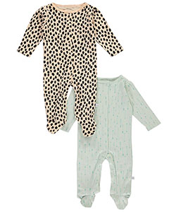 "Rosie Pope Baby Girls' ""Arrow Valley"" 2-Pack Footed Coveralls - CookiesKids.com"