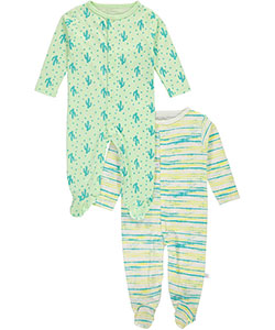 "Rosie Pope Baby Boys' ""King Cool"" 2-Pack Footed Coveralls - CookiesKids.com"