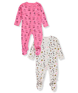 Rosie Pope Baby Girls' 2-Pack Footed Coveralls - CookiesKids.com