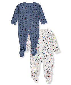 Rosie Pope Baby Boys' 2-Pack Footed Coveralls - CookiesKids.com