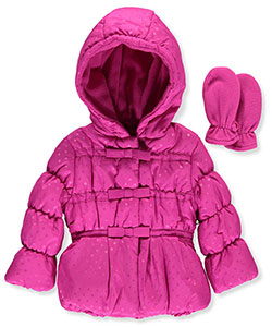 "Rothschild Baby Girls' ""Snow Bubble"" Insulated Jacket with Mittens - CookiesKids.com"
