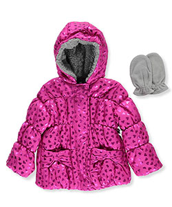 "R. 1881 Baby Girls' ""Shine On"" Insulated Jacket with Mittens - CookiesKids.com"