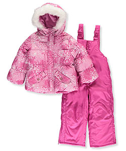 "Rothschild Little Girls' Toddler ""Snow Gem"" 2-Piece Snowsuit (Sizes 2T – 4T) - CookiesKids.com"
