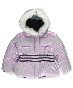 "R. 1881 Little Girls' Toddler ""Striped Shimmer"" Insulated Jacket (Sizes 2T – 4T) - CookiesKids.com"