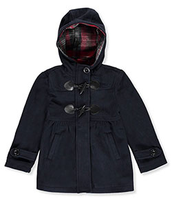 "Chaps Little Girls' Toddler ""Toggled Fleece"" Hooded Jacket (Sizes 2T – 4T) - CookiesKids.com"