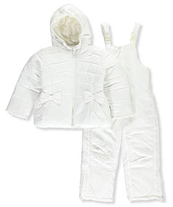 "Rothschild Little Girls' ""Embossed & Bowed"" 2-Piece Snowsuit (Sizes 4 – 6X) - CookiesKids.com"