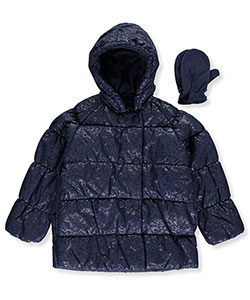 "Rothschild Little Girls' ""Embossed Vines"" Insulated Jacket (Sizes 4 – 6X) - CookiesKids.com"