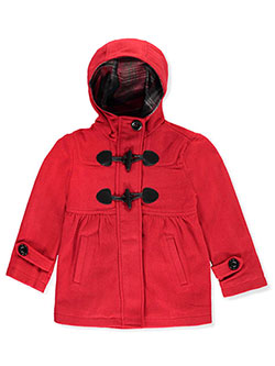 "Chaps Little Girls' ""Toggled Fleece"" Hooded Jacket (Sizes 4 – 6X) - CookiesKids.com"