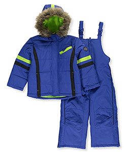 "Rothschild Little Boys' Toddler ""Highlighter Stripes"" 2-Piece Snowsuit (Sizes 2T – 4T) - CookiesKids.com"