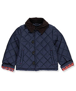 "Chaps Little Boys' Toddler ""Plaid Cuffed"" Jacket (Sizes 2T – 4T) - CookiesKids.com"