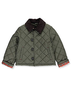 "Chaps Little Boys' ""Plaid Cuffed"" Jacket (Sizes 4 – 7) - CookiesKids.com"