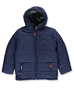 "Rothschild Big Boys' ""Ribbed Heather Trim"" Insulated Jacket (Sizes 8 – 20) - CookiesKids.com"