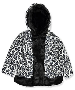 "Rothschild Baby Girls' ""Trimmed Plush Leopard"" Hooded Jacket - CookiesKids.com"