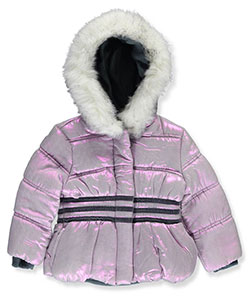 "R. 1881 Baby Girls' ""Striped Shimmer"" Insulated Jacket - CookiesKids.com"
