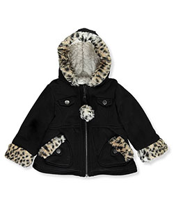 "R. 1881 Baby Girls' ""Luxe Leopard"" Hooded Jacket - CookiesKids.com"
