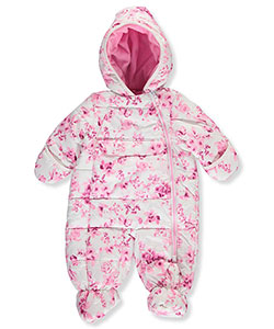 "R. 1881 Baby Girls' ""Wintry Blossoms"" Insulated Pram Suit - CookiesKids.com"