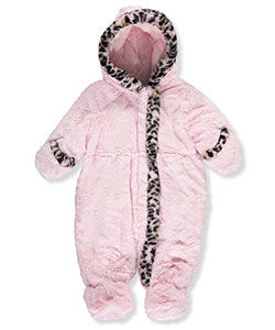 "R. 1881 Baby Girls' ""Plush Leopard"" Insulated Pram Suit - CookiesKids.com"