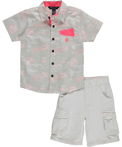 "Rocawear Little Boys' ""Camo Structural"" 2-Piece Outfit (Sizes 4 – 7) - CookiesKids.com"