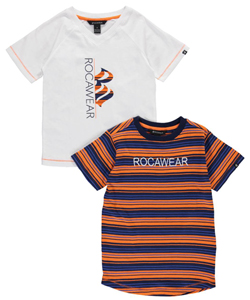 "Rocawear Little Boys' ""Paired Logo"" 2-Pack T-Shirts (Sizes 4 – 7) - CookiesKids.com"