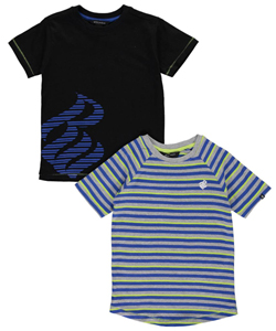 "Rocawear Little Boys' ""Striped Logo"" 2-Pack T-Shirts (Sizes 4 – 7) - CookiesKids.com"
