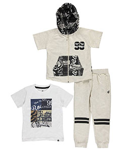 "Rocawear Little Boys' ""Vintage Prints"" 3-Piece Outfit (Sizes 4 – 7) - CookiesKids.com"