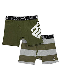 "Rocawear Big Boys' ""Solid Logo"" 2-Pack Boxer Briefs (Sizes 8 – 20) - CookiesKids.com"