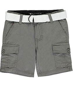 "Rocawear Little Boys' ""Twill Basics"" Belted Cargo Shorts (Sizes 4 – 7) - CookiesKids.com"