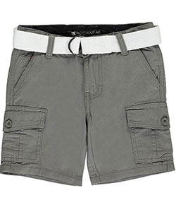 "Rocawear Big Boys' ""Twill Basics"" Belted Cargo Shorts (Sizes 8 – 20) - CookiesKids.com"
