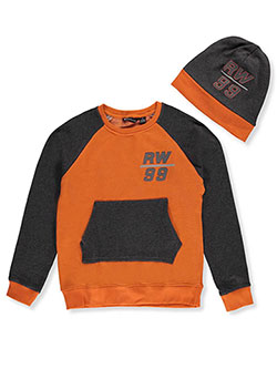 Rocawear Big Boys' Fleece Sweatshirt with Beanie (Sizes 8 – 20) - CookiesKids.com