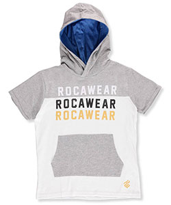 Rocawear Big Boys' S/S Hoodie (Sizes 8 – 20) - CookiesKids.com