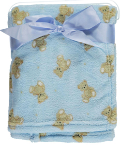 "My Baby ""Teddy Medley"" Plush Blanket - CookiesKids.com"