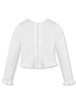 "American Princess ""Pearl Shore"" Shrug Cardigan (Sizes 0M– 9M) - CookiesKids.com"