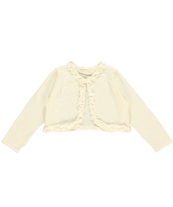 "American Princess Little Girls' Toddler ""Pearl Ruffle"" Shrug (Sizes 2T – 4T) - CookiesKids.com"
