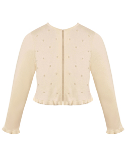 "American Princess Little Girls' ""Pearl Rain"" Shrug (Sizes 4 – 6X) - CookiesKids.com"