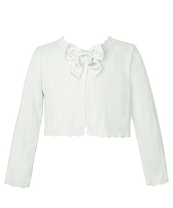 "American Princess Little Girls' ""Satin Bow"" Shrug (Sizes 4 – 6X) - CookiesKids.com"