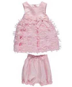 "American Princess Baby Girls' ""Raining Petals"" Dress with Diaper Cover - CookiesKids.com"