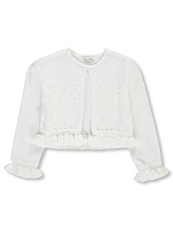 "Couture Princess Little Girls' Toddler ""Pearly Grid"" Shrug (Sizes 2T – 4T) - CookiesKids.com"