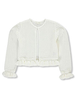 "American Princess Little Girls' ""Ruffled Knit"" Shrug (Sizes 4 – 6X) - CookiesKids.com"