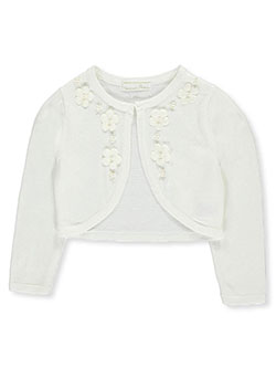 "American Princess Little Girls' ""Pearly Floral Burst"" Shrug (Sizes 4 – 6X) - CookiesKids.com"