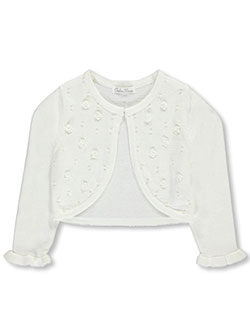 "Couture Princess Little Girls' ""Rosette Garden"" Shrug (Sizes 4 – 6X) - CookiesKids.com"