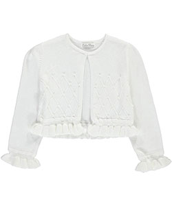 "Couture Princess Little Girls' ""Pearly Grid"" Shrug (Sizes 4 – 6X) - CookiesKids.com"
