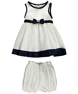 "Couture Princess Baby Girls' ""Satin-Piped"" Dress with Diaper Cover - CookiesKids.com"