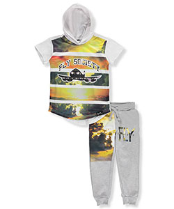 "Fly Society Little Boys' Toddler ""Horizon Flight"" 2-Piece Outfit (Sizes 2T – 4T) - CookiesKids.com"
