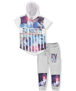 "Fly Society Little Boys' Toddler ""Cosmic Stripes"" 2-Piece Outfit (Sizes 2T – 4T) - CookiesKids.com"