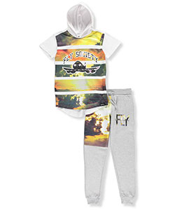 "Fly Society Little Boys' ""Horizon Flight"" 2-Piece Outfit (Sizes 4 – 7) - CookiesKids.com"