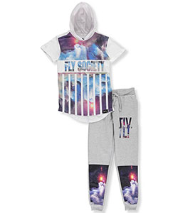 "Fly Society Little Boys' ""Cosmic Stripes"" 2-Piece Outfit (Sizes 4 – 7) - CookiesKids.com"