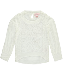 "Pink Angel Little Girls' ""Lace Point"" Sweater (Sizes 4 – 6X) - CookiesKids.com"