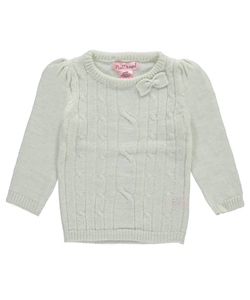 "Pink Angel Baby Girls' ""Sparkled Cable"" Sweater - CookiesKids.com"